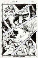 ANSON, KLAUS - Wolverine Saga #3 b. cover, Wolvie  Kitty Pryde  Brood  Mariko , pre#1 1989 Comic Art