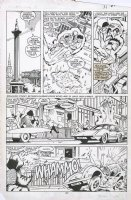 DAVIS, ALAN - New Mutants Annual #3 pg 27 Uncanny X-over, Team vs Impy 1987 Comic Art
