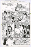 ADAMS, ART - New Mutants Special #1 pg 47, Art's 1st X-title art! Danni vs Asgard Norn Gals Comic Art