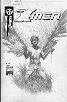 YU, LEINIL - New X-Men #20 cover, logo and mechanicals on overlay Comic Art