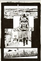 JIMENEZ, PHIL - Grant Morrison' New X-Men #150 pg 6, Magneto threatens DC & NYC Comic Art