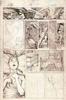 PORTACIO, WHILCE - Uncanny X-Men #207 pencil tryout pg 7 - Phoenix II vs Wolverine Comic Art