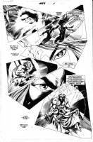 DAVIS, ALAN returns!- Uncanny X-Men #455 pg intro, Beast & death of Psylocke scene Comic Art