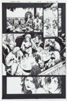 TAN, PHILIP - Uncanny X-Men #425 pg 8, Polaris, Iceman, Husk, Jean Grey, Jubilee, Moonstar - bachelorette party Comic Art