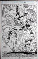 KUBERT, ANDY - X-Factor #57 Full Splash, large Arch-Angel Comic Art