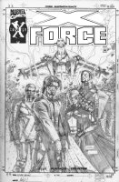 PORTACIO, WHILCE - X-Force #202 finished pencil Promo Ad Comic Art