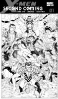 BRADSHAW, NICK - X-Men Second Coming book cover - Magneto, Emma Frost, Storm, Colossus, Nightcrawler, Namor, Magik  Doug Ramsey, Pixie Comic Art