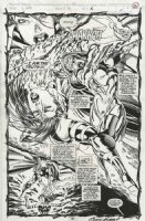 KUBERT, ADAM - X-Men #20 montage-splash pg 12, large Psylocke vs old Psylocke Comic Art