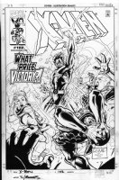 YU, LEINIL - X-Men #102 cover, with paste-over covering Colossus as published Comic Art