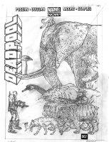 DARROW, GEOF - Deadpool #4 2up pencil cover, writer Brian Posehn' Deadpool,  DP vs a Zoo! Comic Art