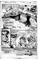 MADUREIRA, JOE / Tim Townsend inks - Uncanny X-Men #312 pg 22, 1st Joe Mad issue! Storm, Gambit, Yukio w/ lettering Comic Art