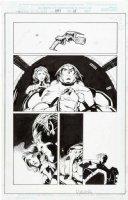 MADUREIRA, JOE / TOWNESEND inks - Uncanny X-Men #343 pg 15, X-Men in space, Rogue & Beast  Comic Art