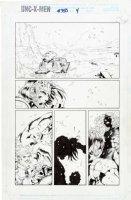 MADUREIRA, JOE / TOWNESEND inks - Uncanny X-Men #350 pg 4, final Joe Mad issue - Gambit & jungle girl hunter, Spat Comic Art