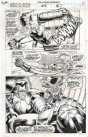 PETERSON, BRANDON / TERRY AUSTIN - Uncanny X-Men #295 X-Cutioner's Song pg 22, Quicksilver, Colossus & Archangel beat Apocalypse Comic Art