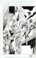 KUBERT, ADAM - Uncanny X-Men #375 pg 25,  Wolvie a Skrull issue, splashy Archangel Comic Art