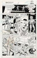COCKRUM, DAVE - X-Men Spotlight Starjammers #1 pg, Team & Carol Danvers /Binary 1990 Comic Art