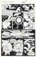 COCKRUM, DAVE - X-Men Spotlight  Starjammers #2 pg 5, space battle  1990 Comic Art