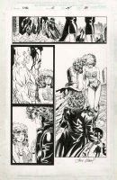 KUBERT, ANDY - X-Men #45 pg 29, X-Men & large Rogue in cutoffs & bustiere Comic Art