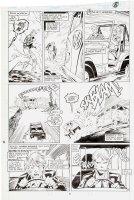 SILVESTRI, MARC - Uncanny X-Men #232 pg 8, Summers & Lorna Dane swiped by VW bus 1988 Comic Art