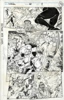 PORTACIO, WHILCE - X-Factor #68 pg 4, Full Old X-Men Team, Apocalypse Origin of baby Nate to become Cable, 1991 Comic Art