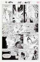 SILVESTRI, MARC - Uncanny X-Men #255 pg 21, teenage Storm escapes the Shadow King 1989 Comic Art