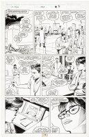 SILVESTRI, MARC - Uncanny X-Men #253 pg 9, teenage Storm in hospital bed, 1989 Comic Art
