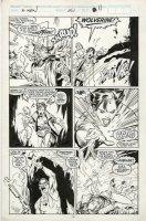 SILVESTRI, MARC - X-Men #261 pg 11, Wolverine goes down, Jubilee & Psylocke react Comic Art