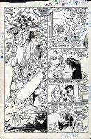 GUICE, JACKSON / KYLE BAKER - New Mutants #44 pg 6 half splash, Magik & Danni - tentacle bondage Comic Art