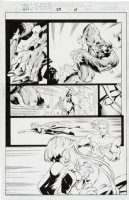 MADUREIRA, JOE / Tim Townsend inks - Uncanny X-Men #334 pg 15, Storm, Beast & Dark Beast, Cannonball Comic Art