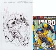 PETERSON, BRANDON - Wolverine edition - Wizard Magazine #97 cover, Wolverine claws out  1999 Comic Art
