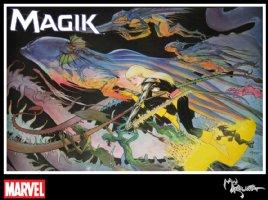KALUTA, MICHAEL - Magik Marvel Press Poster 1987 - modern re-issue Comic Art
