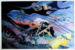 KALUTA, MICHAEL - Magik Marvel Press Poster Art, super-large painting 1987 Comic Art