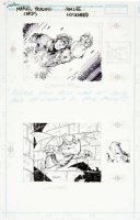 LEE, JIM - X-Men #1 tie-in, 2 trading cards - Cannonball / Lockheed 1992 Comic Art