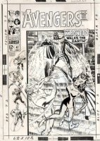 HECK, DON / FRANK GIACOIA - Avengers #47 2-up cover, Team & Magneto after Quicksilver, Scarlet Witch Comic Art