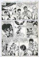 VON EDEN, TREVOR - Powerman & Iron Fist #57 pg 10, X-Men #123-A cross-over, X-Men in action Comic Art