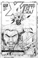 LARROCA, SALVADOR - Uncanny X-Men #443 final cover, claws-out Wolverine, Prof X, Polaris Comic Art