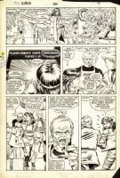 ROMITA JR, JOHN - Uncanny X-Men #180 pg, Kitty & Doug vs video store  Comic Art