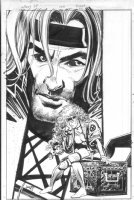 JANSON, KLAUS - X-Men What If #100 promo poster / house ad art - Rogue & Gambit Comic Art