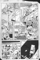 GUICE, BUTCH - X-Factor #2 pg 17, Beast captured Comic Art