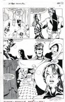 HUGHES, ADAM - X-Men Annual #1 pg 25, XTeam & Psylocke - signed 1992 Comic Art