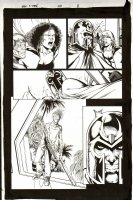 JIMENEZ, PHIL - Grant Morrison' New X-Men #150 pg 8, Magneto Angel Beak+ Comic Art