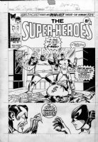 WILSON, RON , JIM STARLIN layouts - The Super Heroes #35 cover, The Cat & UK Uncanny X-Men #20 1973-74 Comic Art