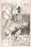 PORTACIO, WHILCE - Uncanny X-Men #207 pencil tryout pg 8, Phoenix II, Wolvie breaks in Comic Art