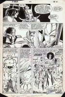 ROMITA JR, JOHN - Uncanny X-Men #190 pg 32, X-Men teamup Black Queen cry of  Avengers Assemble  Comic Art