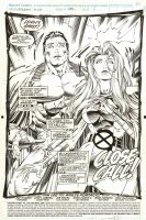 PORTACIO, WHILCE / SCOTT WILLIAMS with JIM LEE - Uncanny X-Men #286 pg 1 splash - Marvel Girl & Colossus Comic Art