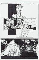 TAN, PHILIP - Uncanny X-Men #432 pg 10, Cain/Juggernaut faces Sammy �Squidboy�s parents Comic Art