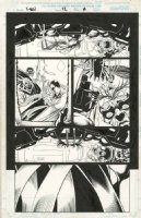 KUBERT, ANDY - X Men #52 pg 14, Sinester traps Magneto Gambit +  Comic Art