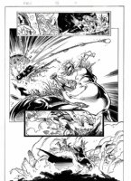 KUBERT, ANDY - X Men #56 pg 7, Rogue & Magneto Vs Onslaught Comic Art
