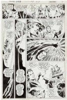 DILLIN, DICK / DICK GIORDANO - Justice League America #108 pg 5, 1st Quality Heroes saga-Freedom Force JLA JSA 1973 Comic Art