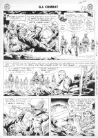 KUEBERT, JOE - GI Combat #56 2-up last pg, 1st Rock prototype, DI & Sandfleas Comic Art